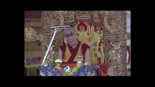 His Holiness the Dalai Lama addresses devotees during 33rd Kalachakra teaching