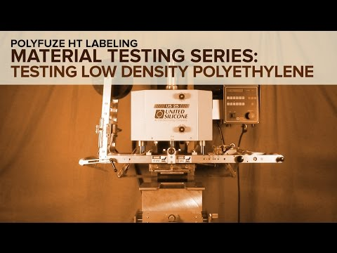 Polyfuze HT Labeling - Material Testing Series Low Density Polyethylene