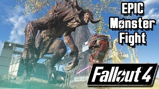 Fallout 4 Battle |  The Most Epic GIANT Monster Fight | Epic Huge Fight