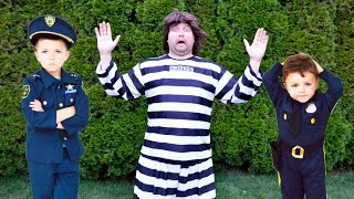 Kid Cops Capture The Escapee Prisoner After He Breaks Out of Jail a Funny Kids Video