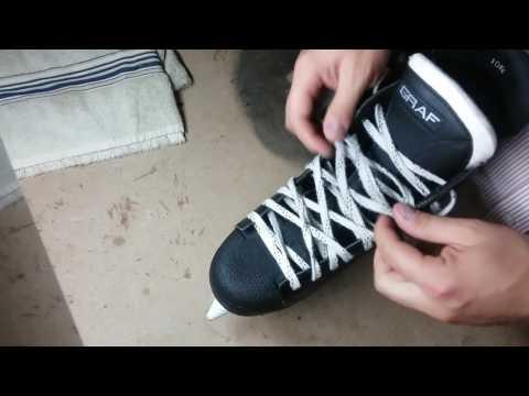 Skates lacing method (pattern)