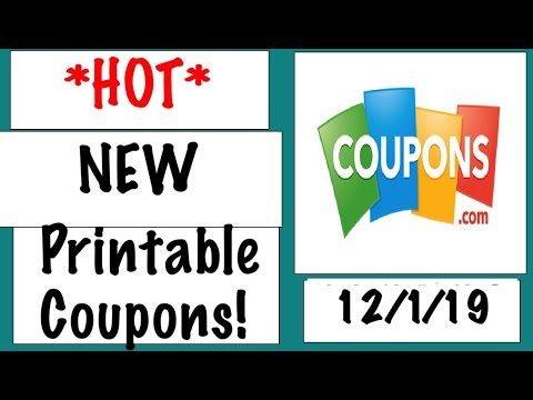 *HOT* New Printable Coupons!--12/1/19