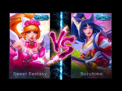 Ultimate Miya Special Skin Comparison | Sweet Fantasy VS Suzuhime | Mobile Legends