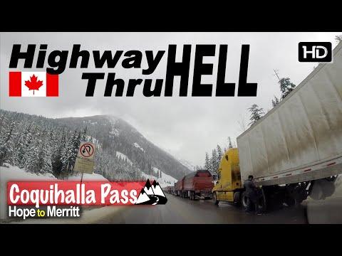 HIGHWAY THRU HELL - Car Drive From Hope To Merritt