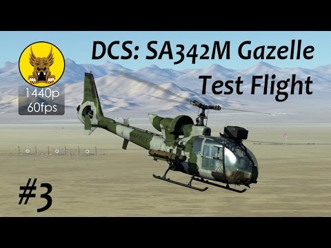 Test Flight - DCS: SA342 Gazelle #3 - Startup, Radio Communications, System Checks