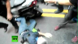 Video: 'Occupy Wall Street' NYPD 'runs over' protester with scooter