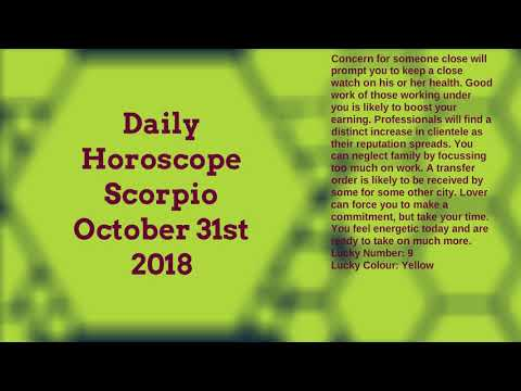 Download - Scorpio October Horoscope 2018 video, ly ytb lv