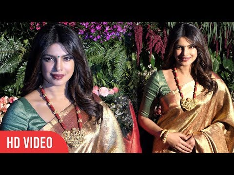 Priyanka Chopra In Saree At Virat And Anushka Wedding Reception | Priyanka's Traditional Look