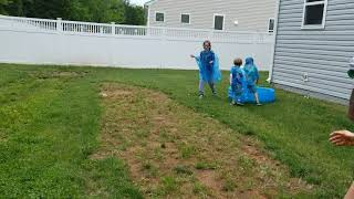 Family food fight part 2 with slime!