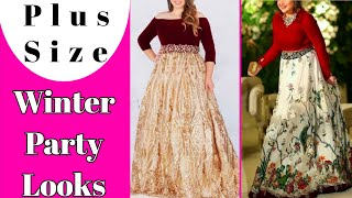 Simple Party Outfit Ideas For Plus Size Girls    Mix Party Outfit Looks    by Look Stylish