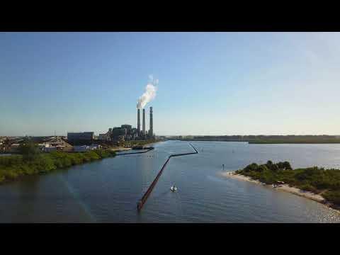 Drone View:  Apollo Beach, Tampa Bay, Florida