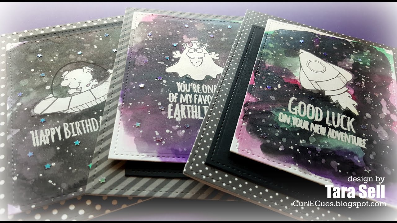 Papercraft Gerda Steiner Designs: Watercoloring a Galaxy Background