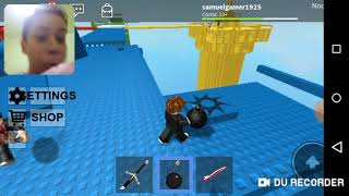 Playing Roblox many explosions!!!