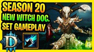 Diablo 3 Season 20 New Witch Doctor Set Gameplay PTR Best Mudunugu's Regalia Build