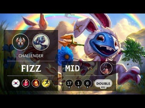 Fizz Mid vs Akali - KR Challenger Patch 9.24