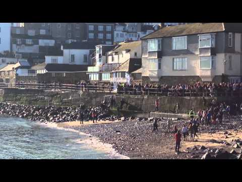 St Ives Feast Day, hurling of the silver ball