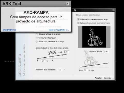 Arkitool Arq Rampa Permite Crear Rampas De Acceso En