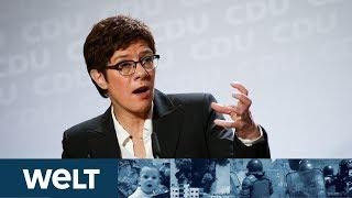WELT LIVE DABEI: Paukenschlag in der CDU - Jetzt redet AKK