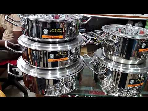 S K B. The  best cookware sets(pots and pans) with price bd