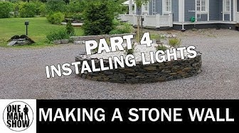 How to make a stone wall - PART 4 Lights installation