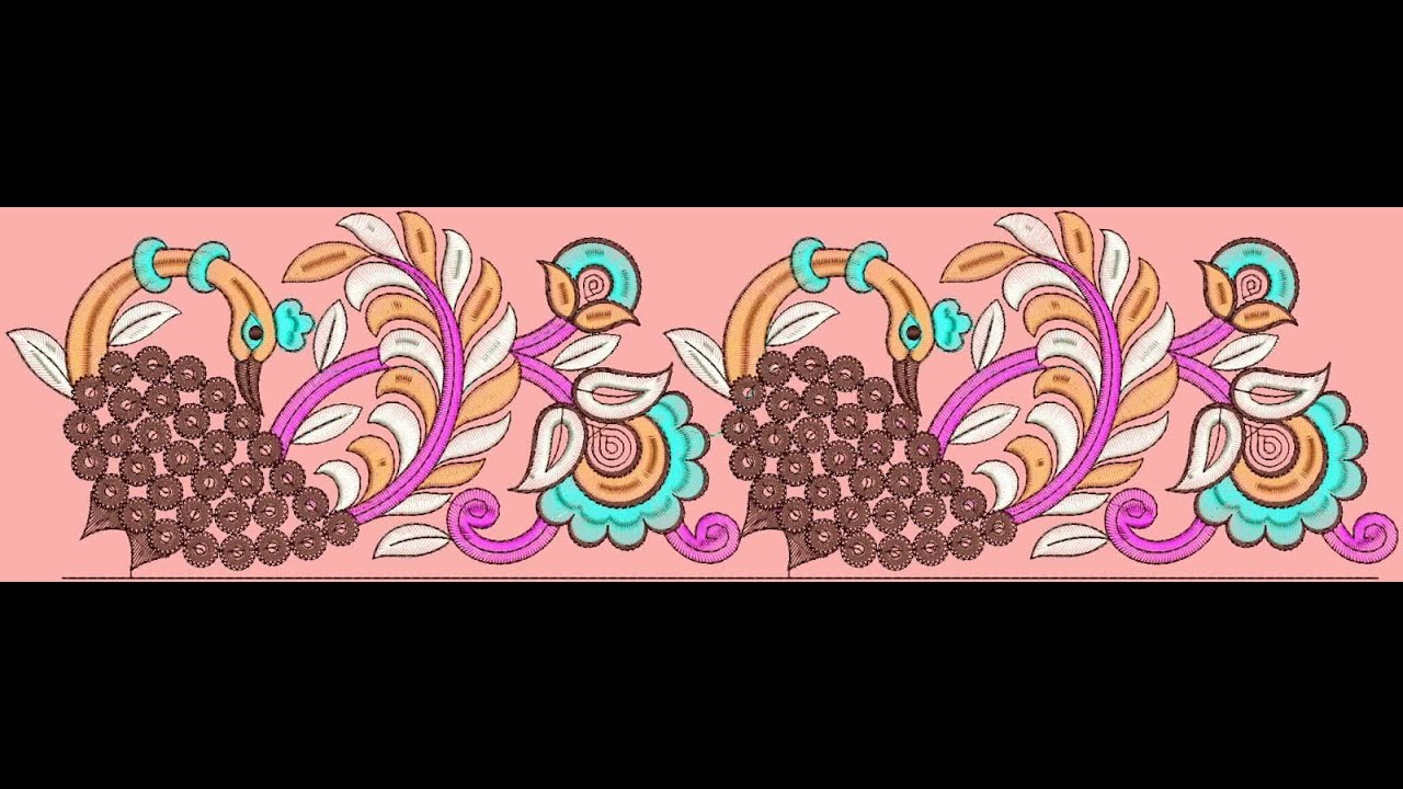Border Lace Machine Embroidery Designs Youtube