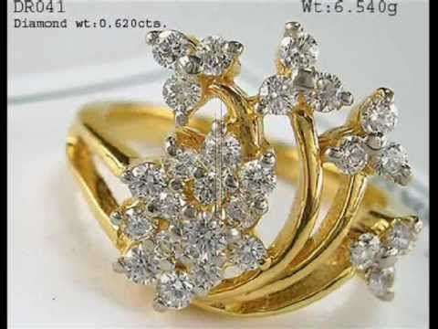 Gold Rings Designs By Vardhman wmv