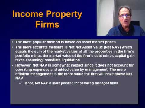 (30) VALUATION OF REAL ESTATE FIRMS