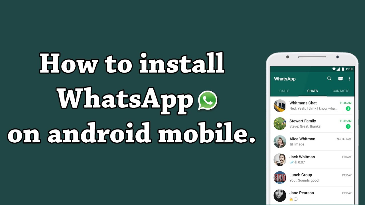 Phone Whatsapp For Android Phone Download how to download and install whatsapp on android mobile youtube mobile