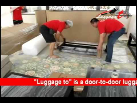 Door-to-door luggage shipping international service from & to Egypt