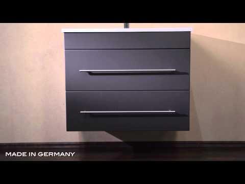 Badmöbel Trendline 750 anthrazit seidenglanz | Badmöbel aus ...