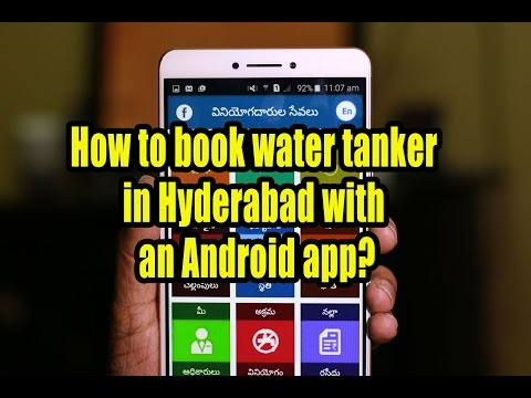 How to book water tanker in Hyderabad with an Android app?