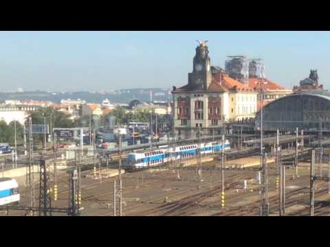 A look at trains in the Czech Republic. Prague and Brno