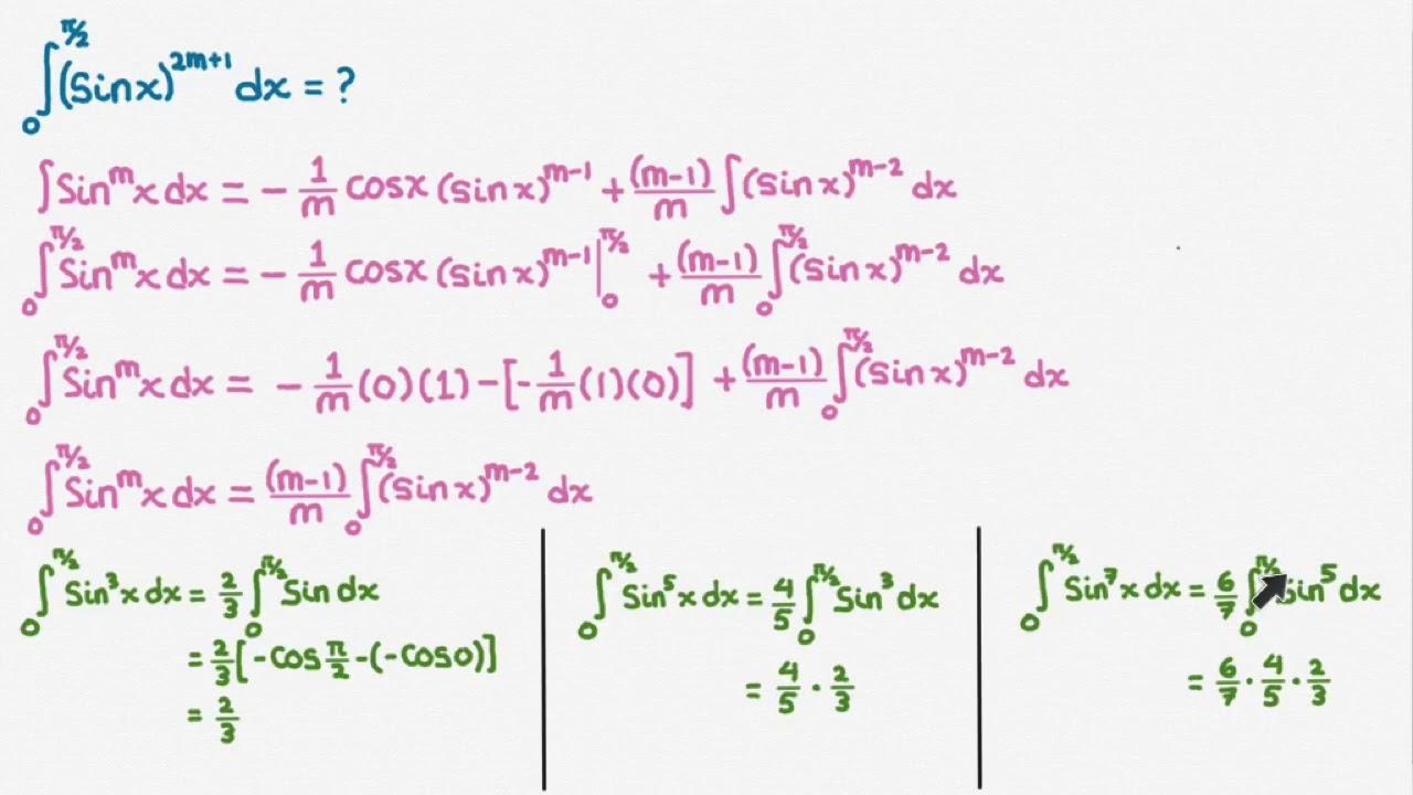 Tentukan dan selesaikan nilai limit kalkulus berikut ini : M202 Integral Trigonometri Berpangkat Rumus Reduksi Part A Youtube