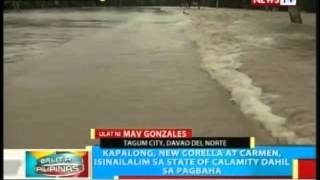 BP: Kapalong, New Corella at Carmen sa Davao del Norte, isinailalim sa state of calamity