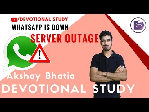 Whatsapp is Down | Server Outage | Don't Panic -WhatsApp's gift on New Year