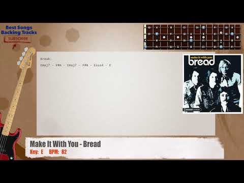 Make It With You - Bread Bass Backing Track with chords and lyrics