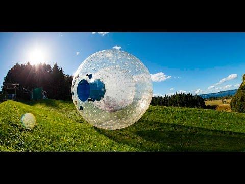 OGO Zorbing in New Zealand (GoPro in 720p)