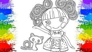 Pinturas Desenhos para colorir Lalaloopsy portugues vestidos boneca para crianças Lalalupsi meninas