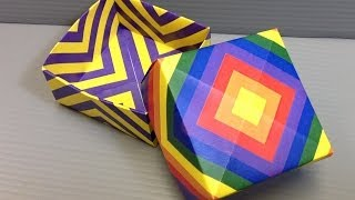Origami Receding Squares Pattern Paper - Print Your Own Paper!