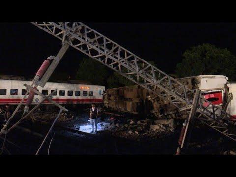 AFP: Taïwan: au moins 22 morts dans un accident de train