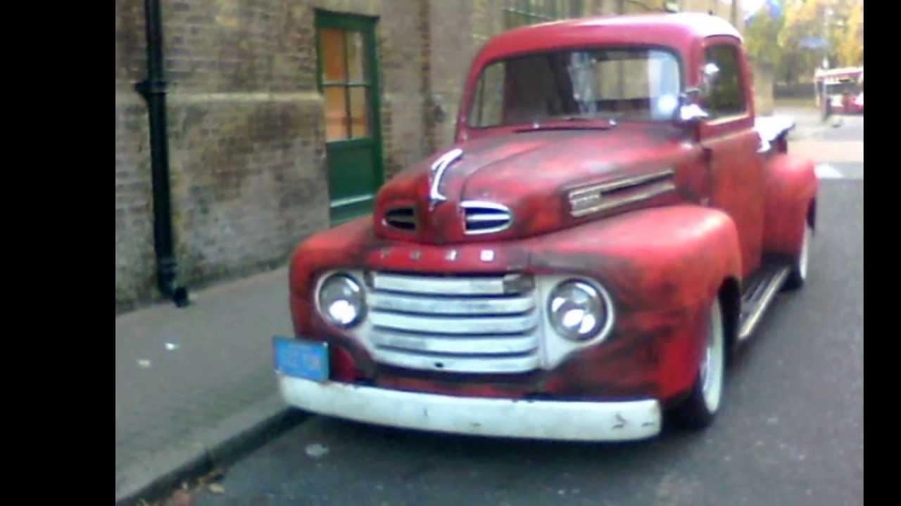 American Ford f1 v8 pickup truck in UK. - YouTube