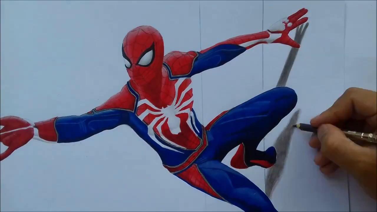 Desenhando Homem Aranha 3d Drawing Spider Man 3dps4 2