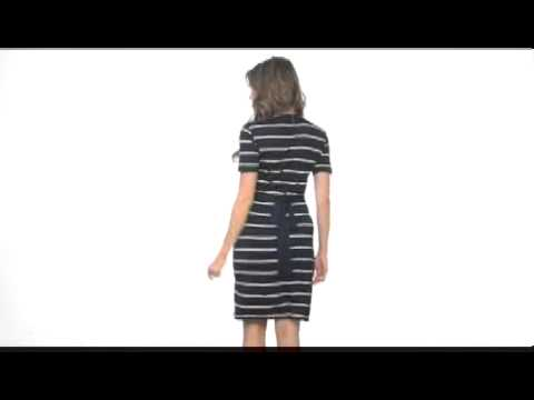 calvin-klein-striped-wrap-dress-sku:#8138703