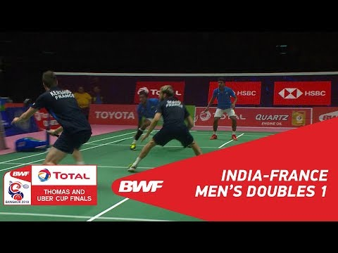 Thomas Cup | MD1 | M.R./SHLOK (IND) vs KERSAUDY/MAIO (FRA) |