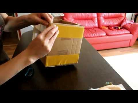 Cмотреть МАстер-класс декор коробки тканью