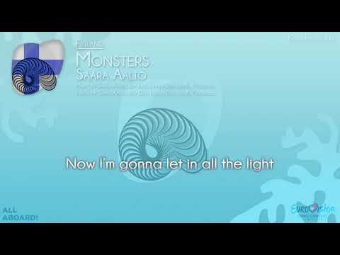 """Saara Aalto - """"Monsters"""" (Finland) [Karaoke version]"""