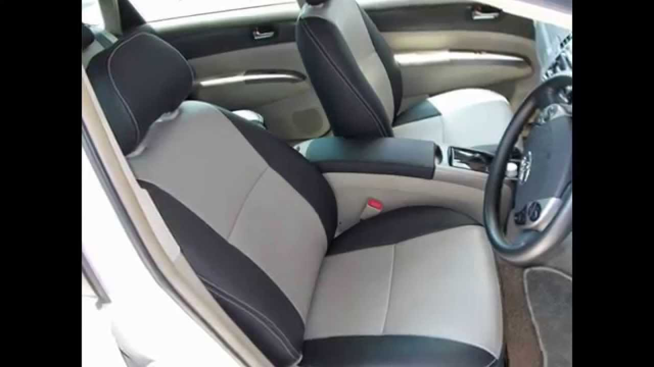 custom car tailors leather car seat covers toyota prius 2nd generation youtube. Black Bedroom Furniture Sets. Home Design Ideas