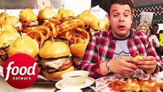 Will This Brisket-Filled Slider Challenge Defeat Adam?! | Man v Food