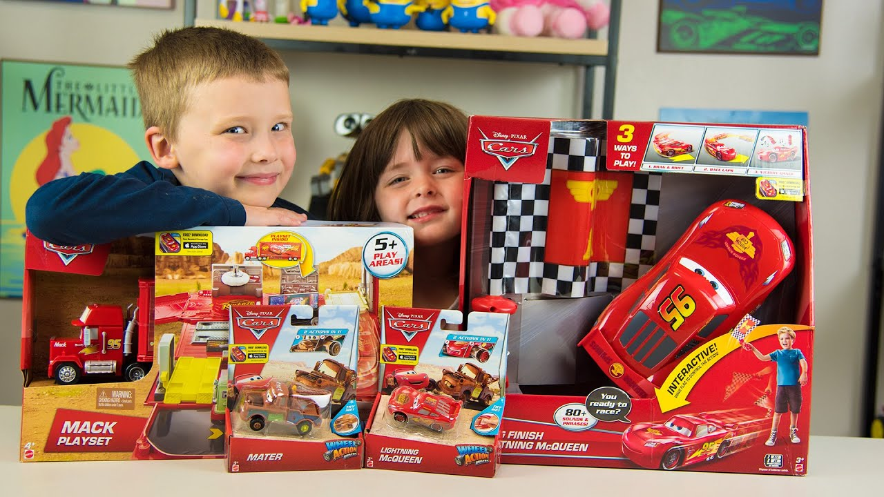 Everything For Boys Toy Cars : Disney cars lightning mcqueen rc toy car mack truck
