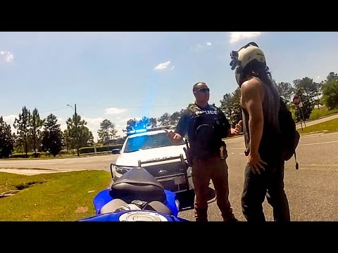 POLICE vs. BIKERS | MOTORCYCLES GETTING PULLED OVER | COOL COPS |